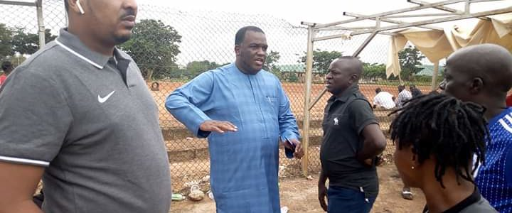 FCT FA CHAIRMAN INSPECTS AREA 3 FIELD FOR RENOVATION