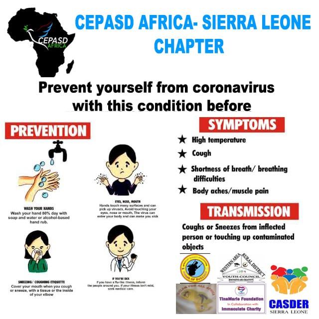 COVID-19: CEPASD Africa Embarks on Community Awareness in Sierra Leone