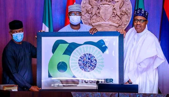 NIGERIA @ 60: President BuhariPledges To Work Towards Greater Inclusiveness, Unveils Theme and Logo